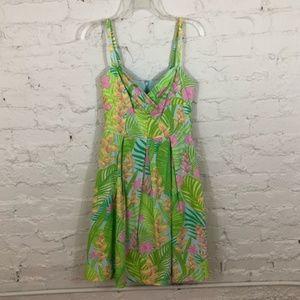 Lilly Pulitzer Tropical Palm Leaf Print Dress